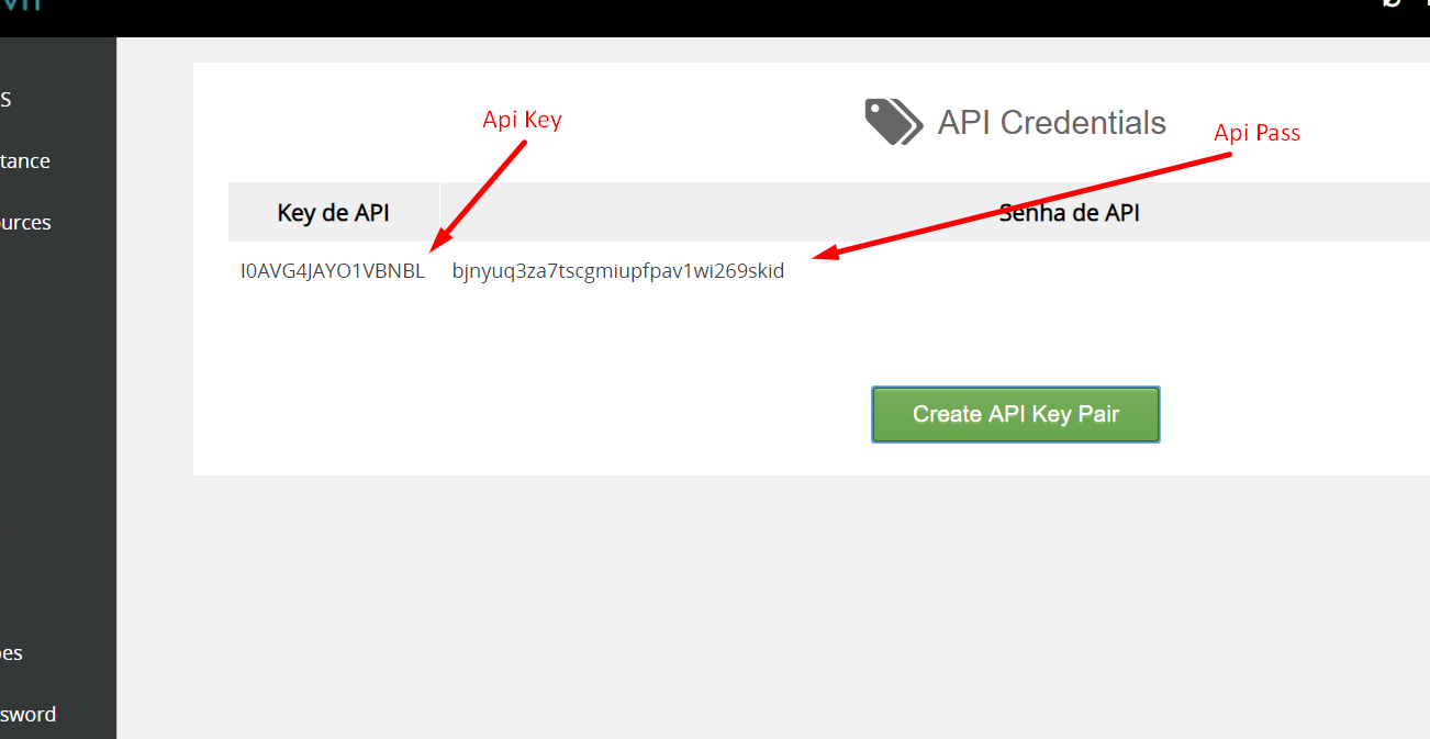 API Revenda de VPS WHMCS